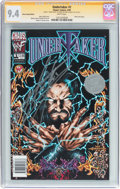 Modern Age (1980-Present):Miscellaneous, Undertaker #1 Silver Stamp Edition - Signature Series (Chaos! Comics, 1999) CGC NM 9.4 White pages....