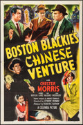 "Movie Posters:Crime, Boston Blackie's Chinese Venture (Columbia, 1949). One Sheet (27"" X 41""). Crime.. ..."