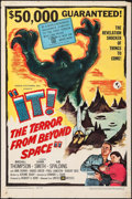 "Movie Posters:Science Fiction, It! The Terror from Beyond Space (United Artists, 1958). One Sheet(27"" X 41""). Science Fiction.. ..."