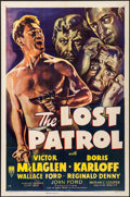 "Movie Posters:War, The Lost Patrol (RKO, R-1949). One Sheet (27"" X 41""). War.. ..."