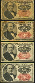 Fractional Currency:Fifth Issue, 25¢ Fifth Issue.. ... (Total: 4 notes)