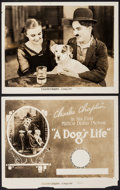 """Movie Posters:Comedy, A Dog's Life (Pathe, R-1920s). Photos (2) (8"""" X 10""""). Comedy.. ... (Total: 2 Items)"""