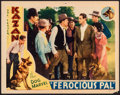 "Movie Posters:Western, Ferocious Pal & Other Lot (Principal Distributing, 1934). Lobby Card (11"" X 14"") & Trimmed Photo (8"" X 9.75""). Western.. ... (Total: 2 Items)"