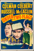 "Movie Posters:Adventure, Under Two Flags & Other Lot (20th Century Fox, R-1943). OneSheet (27"" X 41"") & Restrike Photo (8.25"" X 10""). Adventure..... (Total: 2 Items)"