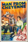 "Movie Posters:Western, Man from Cheyenne (Republic, 1942). One Sheet (27"" X 41""). Western.. ..."