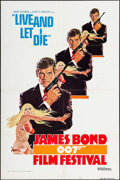 "Movie Posters:James Bond, James Bond Film Festival -- Live and Let Die (United Artists,R-1976). International One Sheet (27"" X 41"") Flat Folded Style..."
