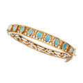 Estate Jewelry:Bracelets, Opal, Gold Bracelet. ...