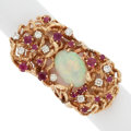 Estate Jewelry:Rings, Diamond, Opal, Ruby, Gold Ring. ...