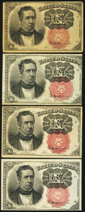Fractional Currency:Fifth Issue, 10¢ Fifth Issue Extremely Fine or Better.. ... (Total: 4 )