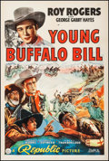 "Movie Posters:Western, Young Buffalo Bill (Republic, 1940). One Sheet (27"" X 41""). Western.. ..."