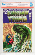 Bronze Age (1970-1979):Horror, Swamp Thing #1 Verified Signature (DC, 1972) CBCS NM- 9.2 Off-whiteto white pages....