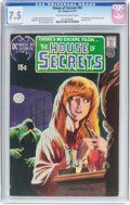 Bronze Age (1970-1979):Horror, House of Secrets #92 (DC, 1971) CGC VF- 7.5 Off-white to whitepages....