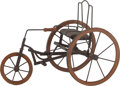 Paintings, A Scratch-Built Model of a Tricycle, circa 1900. 12-3/4 x 8-5/8 x 18 inches (32.4 x 21.9 x 45.7 cm). ...
