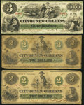 Obsoletes By State:Louisiana, New Orleans, LA- City of New Orleans $2 (2); $3 1862-68. ... (Total: 3 notes)