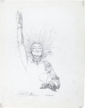 Original Comic Art:Miscellaneous, Chris Achilleos - Heavy Metal Poster Painting PreliminarySketch Original Art (1981). ...
