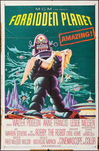 "Forbidden Planet (MGM, 1956). One Sheet (27"" X 41""). Science Fiction"
