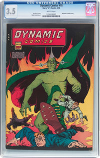 Dynamic Comics #18 (Chesler, 1946) CGC VG- 3.5 Brittle pages