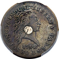 1792 P1C One Cent, Judd-1, Pollock-1, High R.6 SP35 PCGS Secure. CAC....(PCGS# 11001)