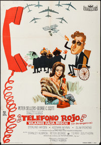 """Dr. Strangelove or: How I Learned to Stop Worrying and Love the Bomb (Procines, 1964). Spanish One Sheet (27.25"""" X..."""