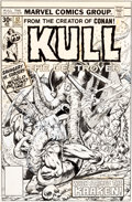Original Comic Art:Covers, Gil Kane Kull the Destroyer #17 Cover Original Art (Marvel,1976)....