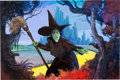 Original Comic Art:Paintings, William Stout The Witch's Threat Wizard of Oz/Wicked Witch of the West Painting Original Art (Landmark Entertainme...