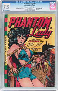 Phantom Lady #17 (Fox Features Syndicate, 1948) CGC VF- 7.5 Off-white to white pages