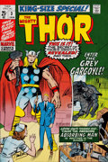 Memorabilia:Comic-Related, Jack Kirby and Chic Stone Thor Annual #3 Cover Color ProofSigned by Stan Lee (Marvel, 1971)....