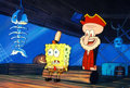 Animation Art:Production Cel, SpongeBob SquarePants Production Cel Setup (Nickelodeon,1999)....