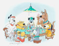 Animation Art:Production Drawing, Bob Singer - Scooby-Doo and Friends Painting Original Art(Hanna-Barbera, 2004)....