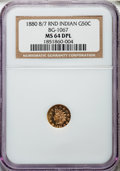 1880/70 50C Indian Round 50 Cents, BG-1067, Low R.4, MS64 Deep Prooflike NGC....(PCGS# 910896)
