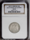 Seated Quarters: , 1873-S 25C Arrows VF35 NGC....