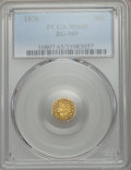 California Fractional Gold , 1876 50C Indian Octagonal 50 Cents, BG-949, R.4, MS65 PCGS. PCGSPopulation (8/1). NGC Census: (1/1). ...