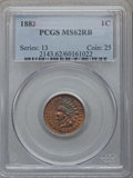 1882 1C MS62 Red and Brown PCGS. PCGS Population (17/492). NGC Census: (8/348). Mintage: 38,581,100. Numismedia Wsl. Pri...