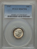 Roosevelt Dimes, 1947 10C MS67 Full Bands PCGS. PCGS Population (49/0). NGC Census: (40/1). Mintage: 121,520,000. ...
