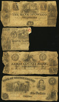 Obsoletes By State:Mixed States, Quartet of Obsolete Bank Notes from New York State and Vermont 1845-61... (Total: 4 notes)