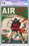 Golden Age (1938-1955):War, Air Fighters Comics #12 (Hillman Fall, 1943) CGC Apparent FN/VF 7.0Slight (B-1) Off-white pages....