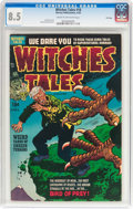 Golden Age (1938-1955):Horror, Witches Tales #18 File Copy (Harvey, 1953) CGC VF+ 8.5 Cream tooff-white pages....