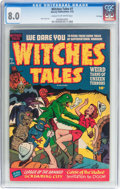 Golden Age (1938-1955):Horror, Witches Tales #7 File Copy (Harvey, 1952) CGC VF 8.0 Cream tooff-white pages....