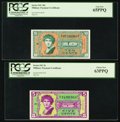 Military Payment Certificates:Series 541, Series 541 5¢ and 10¢ PCGS Graded. . ... (Total: 2 notes)