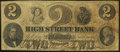Obsoletes By State:Rhode Island, Providence, RI- High Street Bank Spurious $2 Mar. 10, 1861. ...