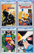 Modern Age (1980-Present):Miscellaneous, Comic Books - Assorted CGC-Graded Modern Age Comics Group of 4 (Various Publishers, 1990-96) Condition: CGC NM 9.4 White pages... (Total: 4 Comic Books)