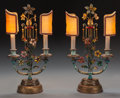 Miscellaneous:Lamps & Lighting, A Pair of Italian Tole Painted Lamps with Shades, circa 1920. 18-1/2 inches high (47.0 cm). ... (Total: 6 Items)