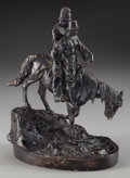 Sculpture, Russian School (20th Century). Cossacks on Horse. Bronze with brown patina. 11 inches (27.9 cm) high. Inscribed on base:...