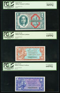 Military Payment Certificates:Series 611, Series 611 Three Denominations PCGS Graded.. ... (Total: 3 notes)