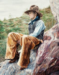 Fine Art - Painting, American:Modern  (1900 1949)  , Joel Phillips (American, b. 1960). Higher Ground. Oil onpanel. 15-1/2 x 12 inches (39.4 x 30.5 cm). Signed lower right:...