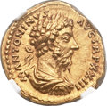 Ancients:Roman Imperial, Ancients: Marcus Aurelius (AD 161-180). AV aureus  (20mm, 7.26gm, 11h)....