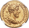 Ancients:Roman Imperial, Ancients: Marcus Aurelius (AD 161-180). AV aureus (20mm, 7.29 gm,6h)....