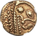 Ancients:Celtic, Ancients: GAUL. Bellovaci. Ca. 1st century BC. AV stater (17mm,6.29 gm, 3h)....