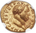 Ancients:Roman Imperial, Ancients: Vespasian (AD 69-79). AV aureus (19mm, 7.08 gm,7h). ...