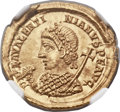 Ancients:Roman Imperial, Ancients: Valentinian III, Western Roman Emperor (AD 425-455). AV solidus (21mm, 4.53 gm, 12h)....